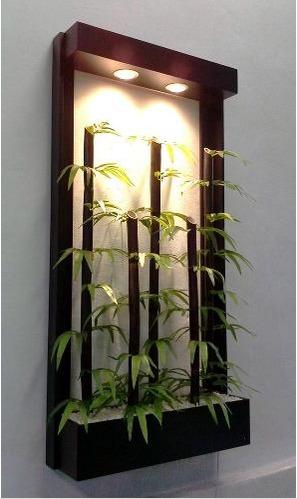 Jardinera colgante de bambu artificial 1 en - Jardineras con bambu ...
