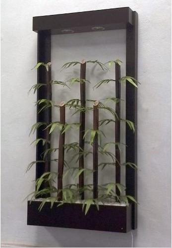 Jardinera Colgante De Bambu (artificial) - $ 1,620.00 en Mercado Libre