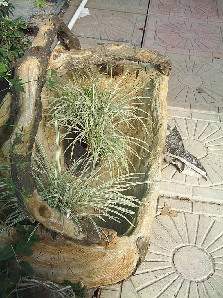 Jardinera con asas tipo tronco concreto 1 en - Tipos de jardineras ...