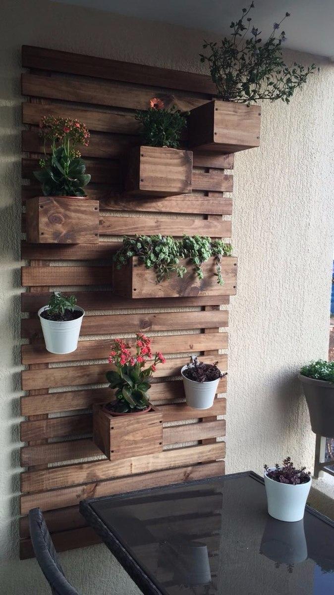 Jardinera de madera colgante 50x50 en mercado libre - Jardineras de madera caseras ...
