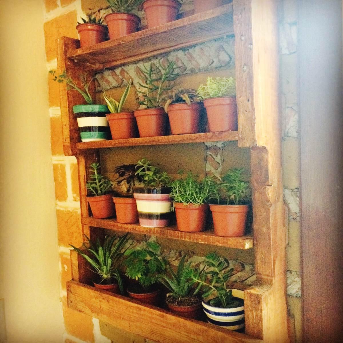 Jardinera de madera de palet en mercado libre - Jardineras de madera caseras ...