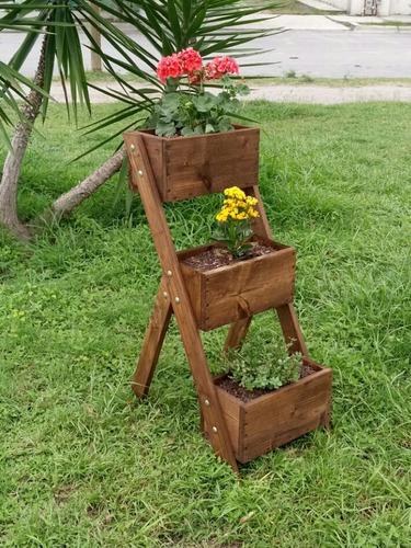 jardinera escalera rustica