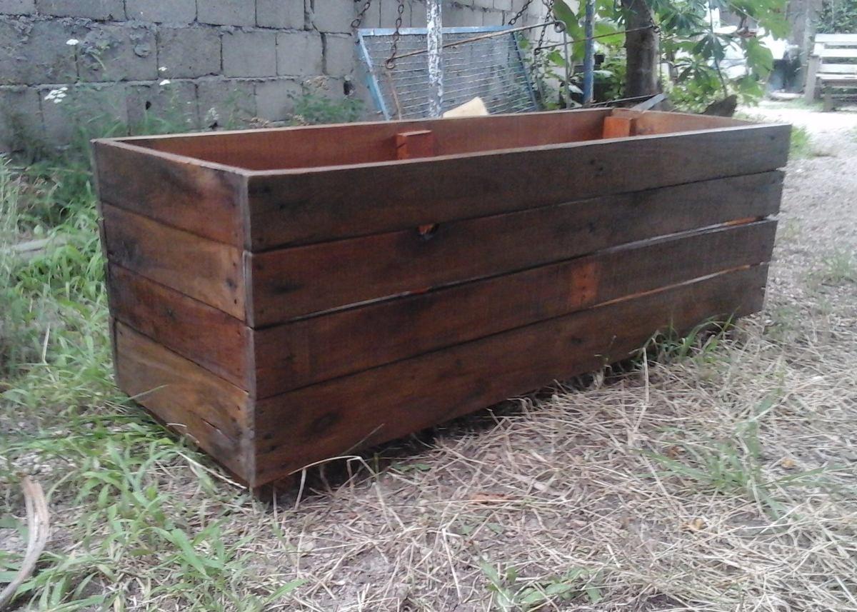 Jardinera maceta macetero en madera de palets 800 00 - Maceteros de palets ...