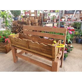 Jardinera Vintage Rustica Macetera De Madera Rectang 100x30