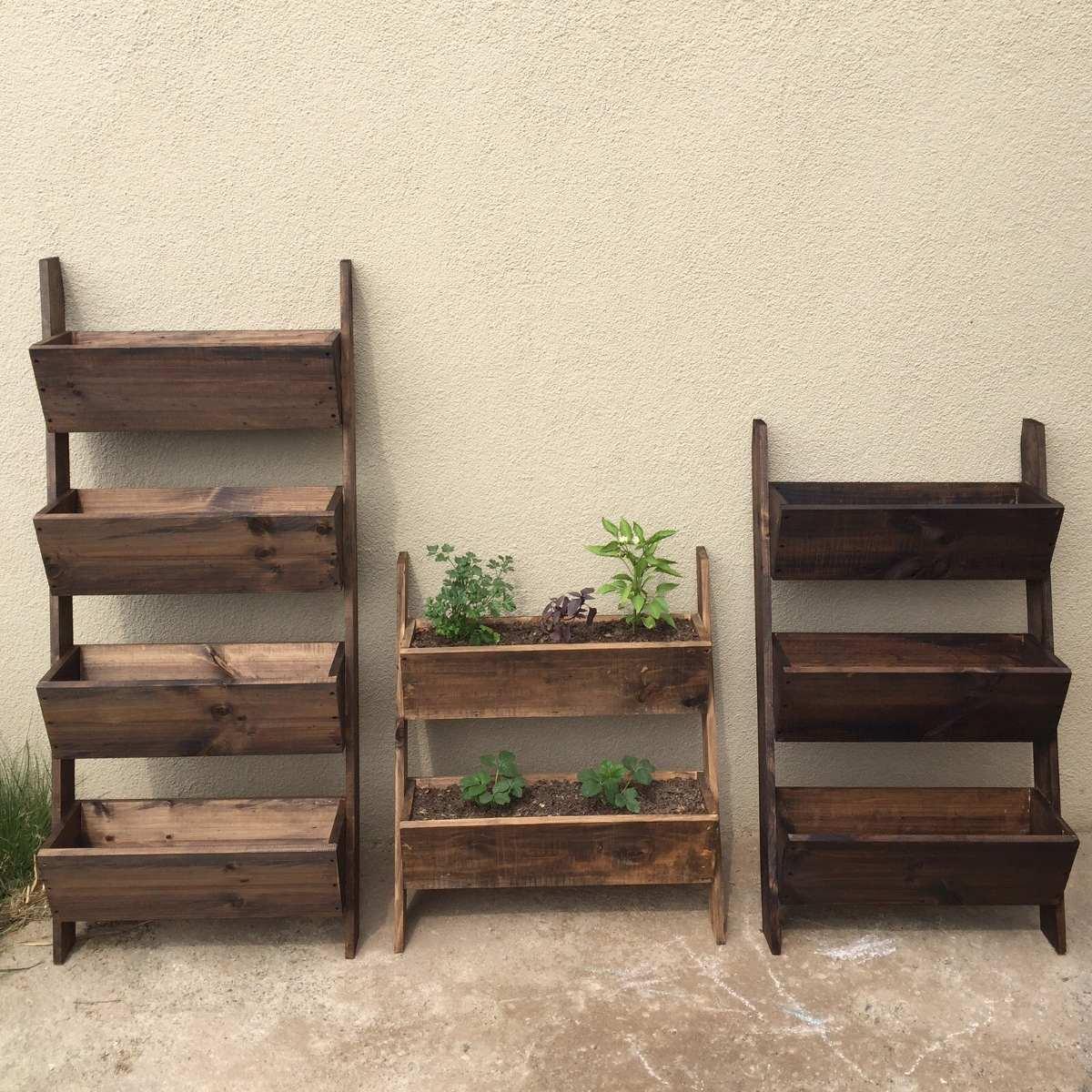 Jardineras de madera en mercado libre for Jardinera de madera vertical