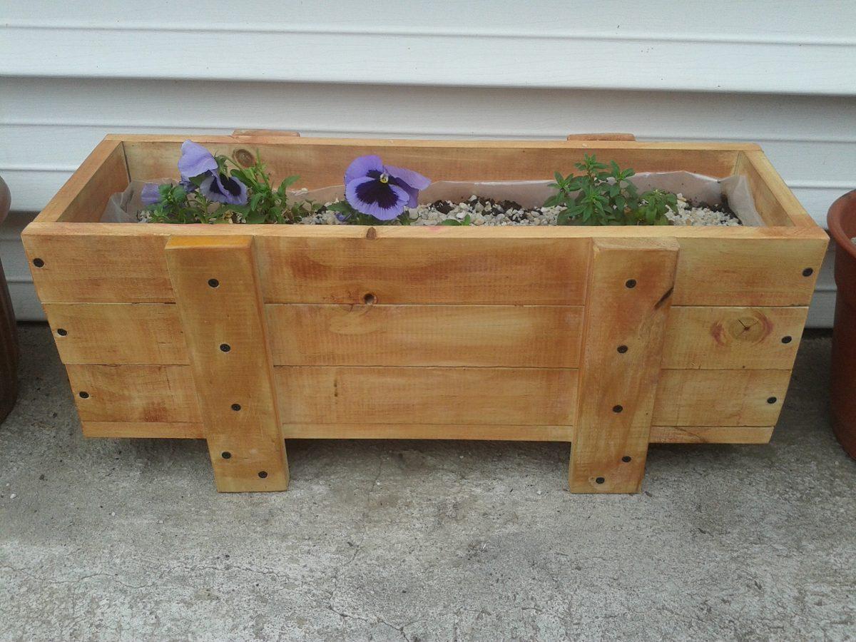 Jardineras maceteros en madera precio fabrica - Maceteros de palets ...