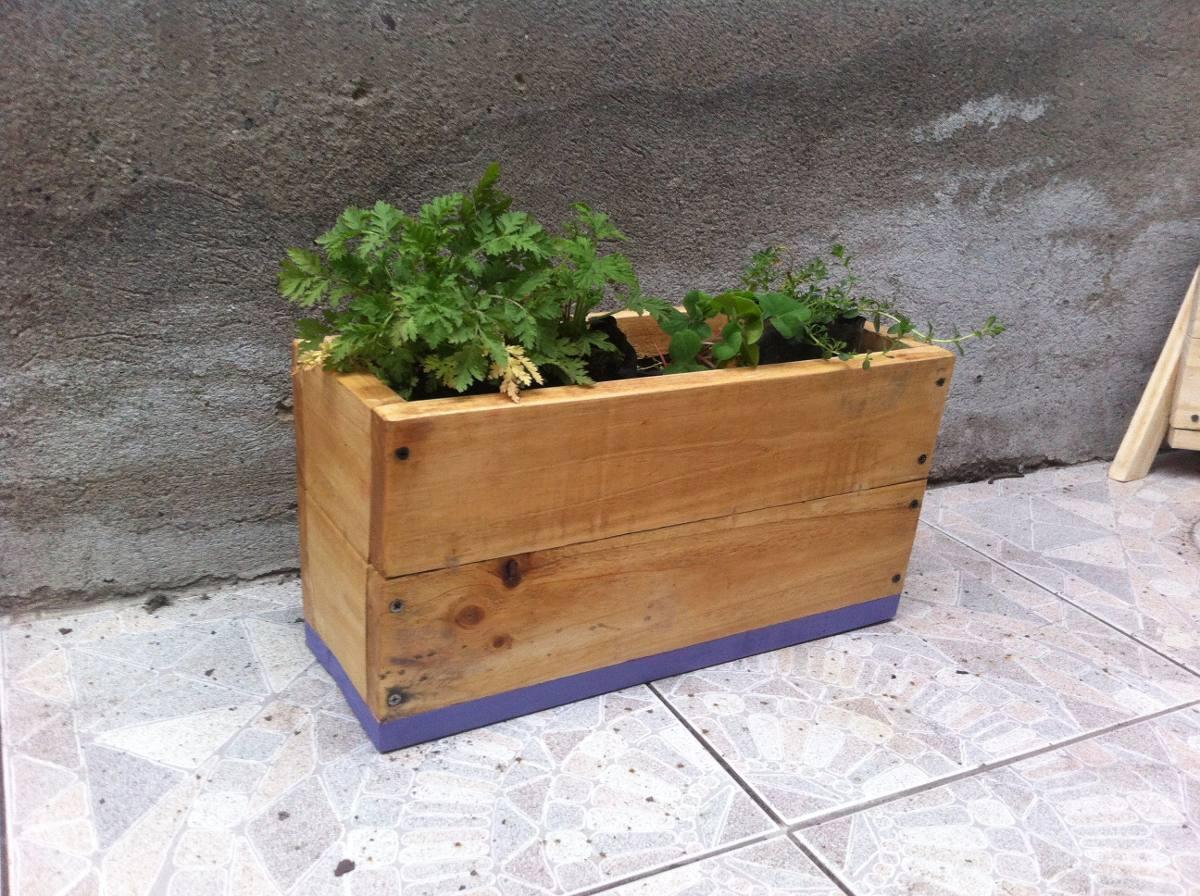 Jardineras madera dise os nicos 60 cm con ruedas en mercado libre - Jardineras con ruedas ...