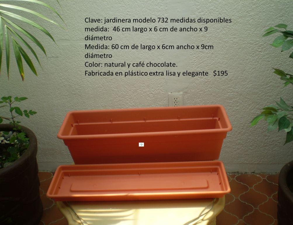 Jardineras y macetas de pl stico chocolate mdn - Jardineras de plastico ...