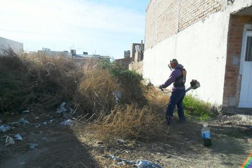 jardinería. limpieza de terrenos, piletas y tanques de agua.