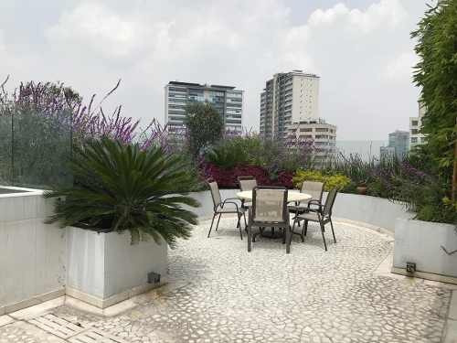 jardines del pedregal.- rento ph con roof garden privado