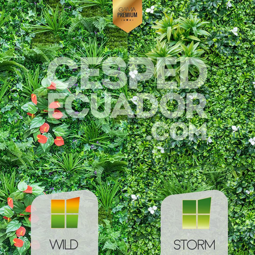 jardines verticales artificiales con protección climática