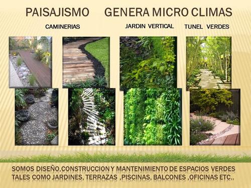 jardines  y paisajismo  diseño, contruccion y mantenimiento