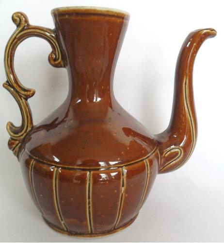 jarra antiga decorativa bule cerâmica base numerada coleção