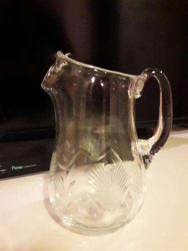 jarra antigua año '50 cristal tallado pico clerico 3 lts
