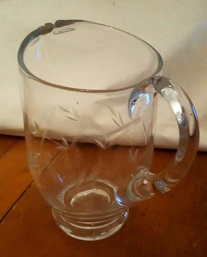 jarra antigua cristal