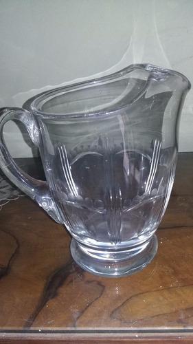 jarra antigua de vidrio - 2 litros -pico vertedor