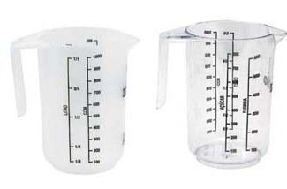 jarra com medida para 1 litro