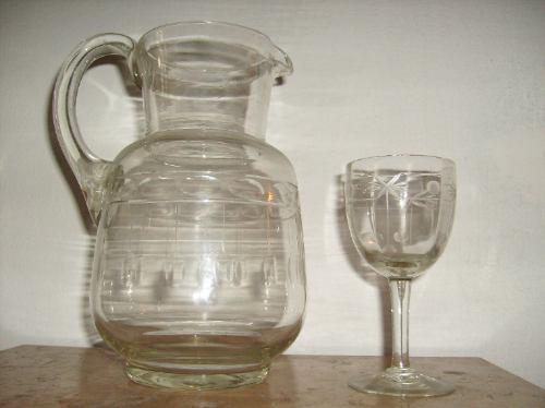 jarra con   4   copas + jarra