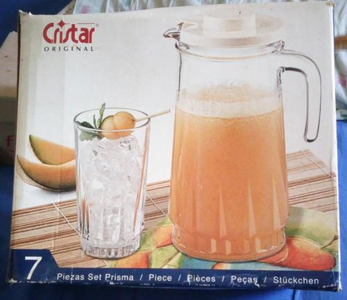 jarra con 6 vasos cristar original este artículo ya fue vend