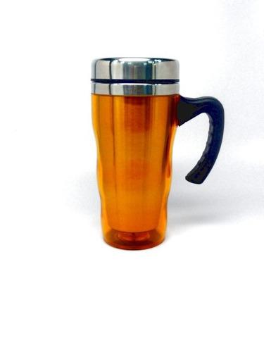 jarra con asa metalica vaso termico material pop