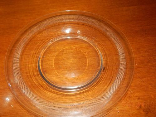 jarra cristal tallada y plato tallado