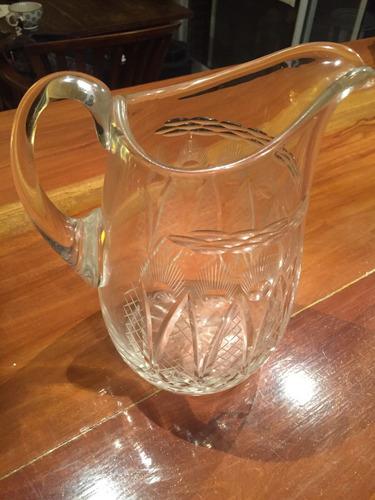 jarra cristal tallado