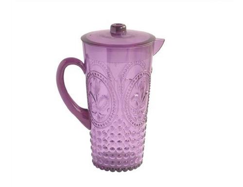 jarra de acrílico color  violeta diseño flor de lis