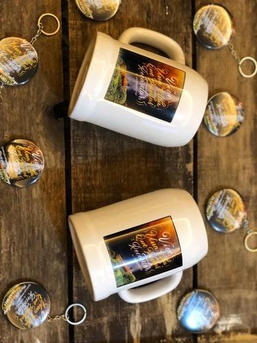 jarra de cerveza medio litro personalizada logo foto