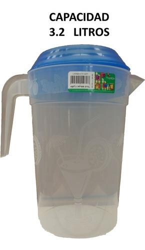 jarra de plástico para agua 3.2 lts 5 piezas incluye envío