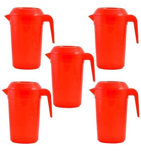 jarra de plástico para agua 3.2 lts caja/5 pzs incluye envío