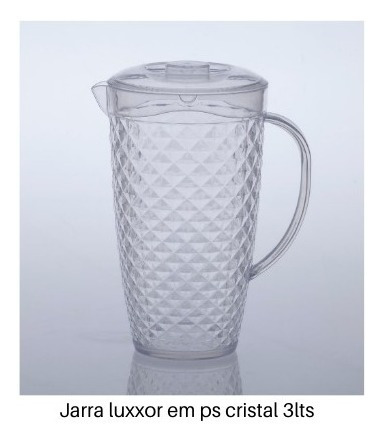 jarra de suco 3lts + jogo de 6 copos 500ml luxxor paramount