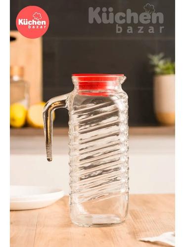 jarra de vidrio banding 1250ml c/tapa rigolleau