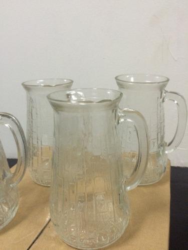 jarra de vidrio  con detalle (cascada) para arreglo florales