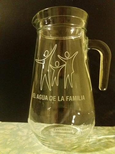 jarra de vidrio  para agua - jugo - nestlé