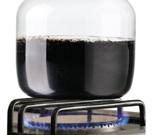 jarra de vidrio templado 1.6lts para fuego y microondas