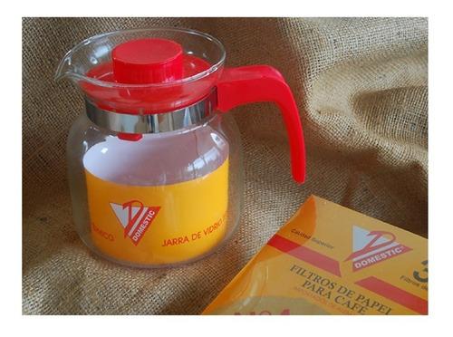jarra de vidrio termico cafetera 1.2 l para cafe filtro