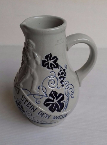 jarra de vino relieve cerámica wick werke alemania 0,5l 16cm