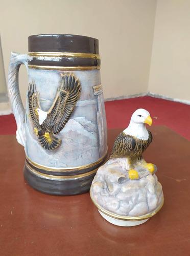 jarra decorativa águila