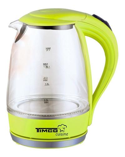 jarra eléctrica de vidrio para calentar agua timco je-v02