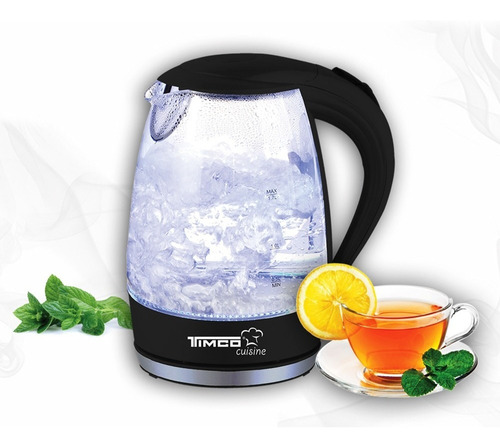 jarra eléctrica de vidrio para calentar agua timco je-v02n