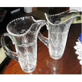 Jarra Jarron De Cristal Transparente Vidrio Cristal- Sfmpili