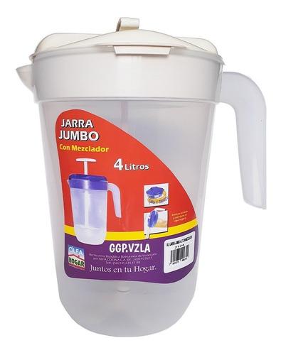 jarra jumbo con mezclador 4 litros alfa hogar