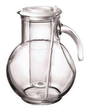 jarra kufra vidro com tampa 2 lts com recipiente pra gelo e mexedor viva bormioli rocco