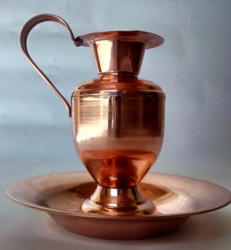 jarra marroquina cobre alça cobre g com bacia arte cobre