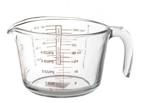 jarra medidora de vidrio templado