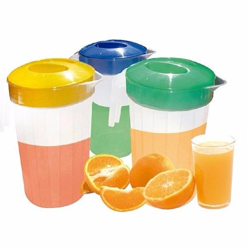 jarra plástica grande 3 litros  agua jugo batidos bebidas co