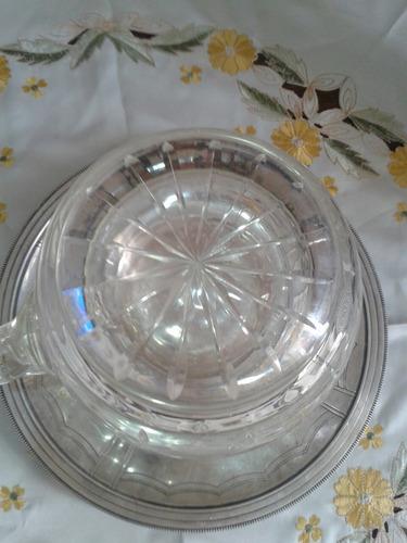 jarra ponchera de cristal tallado