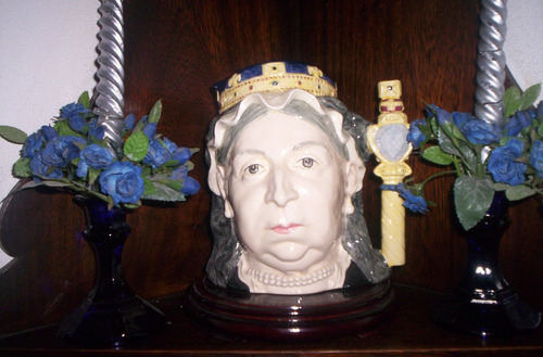jarra royal doulton titulada reina victoria edicion especia