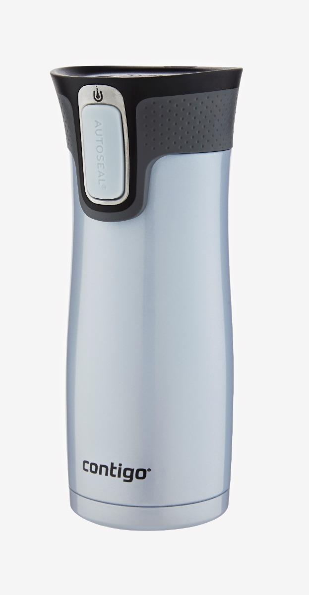 Tapa Apta para lavavajillas 470 ml Termo de Acero Inoxidable sin BPA Contigo West Loop antigoteo