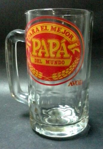 jarra vidrio para el mejor papá del mundo avon
